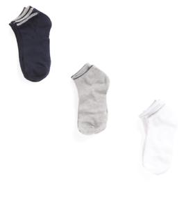 Jones New York 6 Pr Low Cut Socks 9-11 Solid Black//Solid Gray MSRP $14