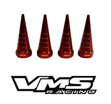 VMS BILLET ALUMINUM RED B18 NON VTEC VALVE COVER SPIRAL SPIKE NUTS BOLTS 8 PCS