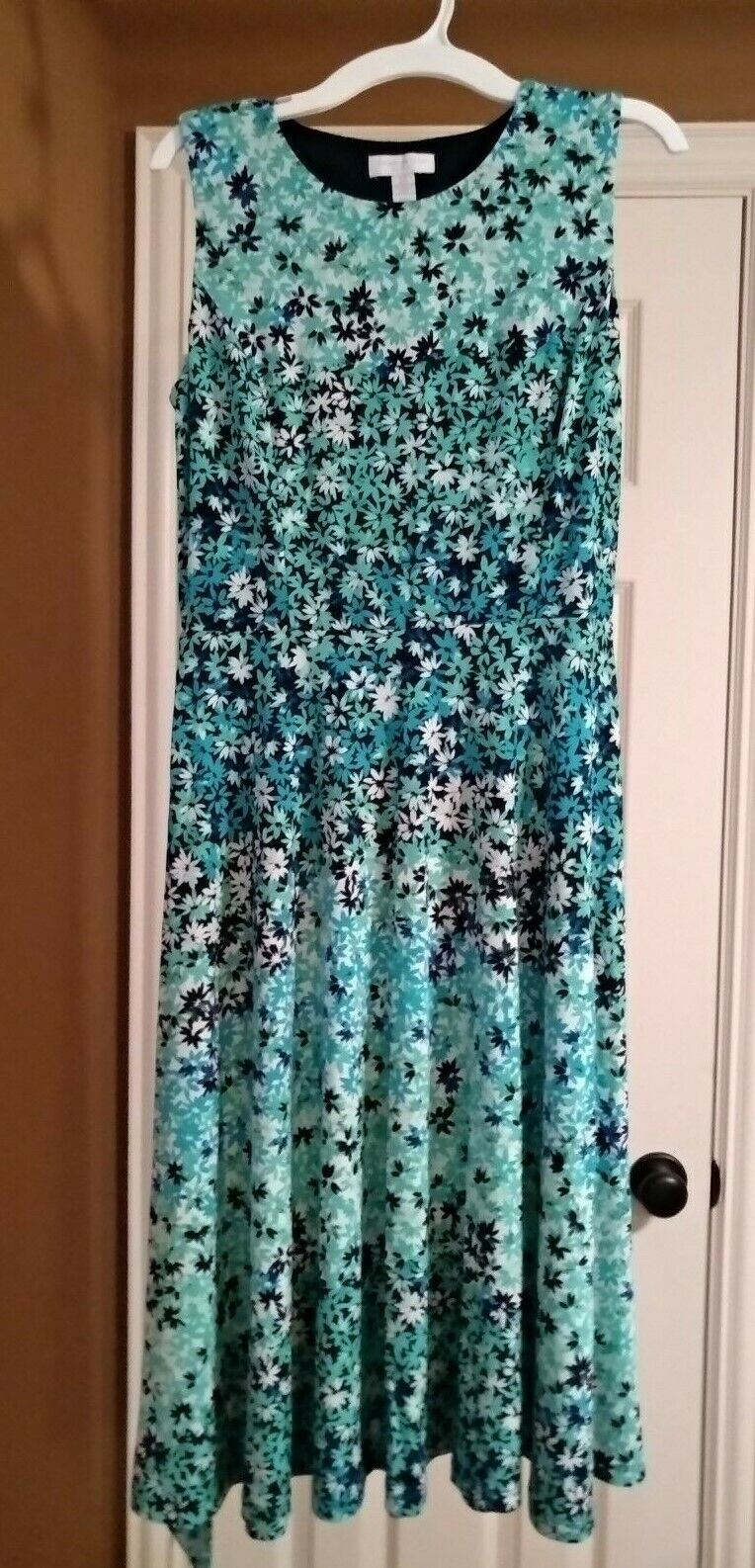 Charter Club Petite Printed sleeveless Maxi Sun Dress Größe P
