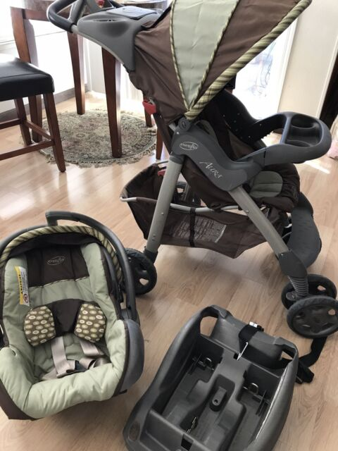 Evenflo Aura Beige Travel System Car Seat And Stroller Local Pick Up Only