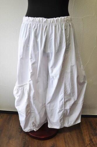 MYO-Lagenlook raffinato 3d-palloncino pantaloni in nylon bianco RAFF BORSA 46,48,50,52 XXXL