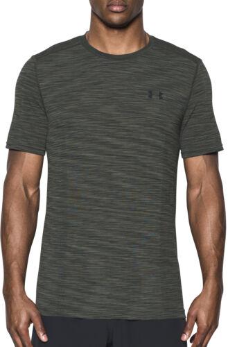 Under Armour Seamless Mens Training Top Green Short Sleeve T-Shirt Gym Running