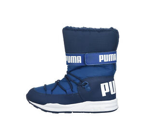 9bde9b124c8ce1 PUMA Trinomic Royal Navy Blue Snow Boots Lined Water Proof Children ...