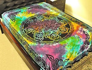 Tie-Dyed Mandala Tapestry or Altar Cloth!