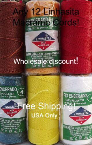 thread Wholesale Disc 170m//186yd Linhasita 12 WAXED POLYESTER 1MM cord spool
