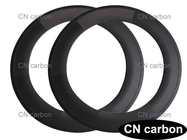 700C U Shape 88mm Tubular carbon road bicycle rim 23,25mm rim width