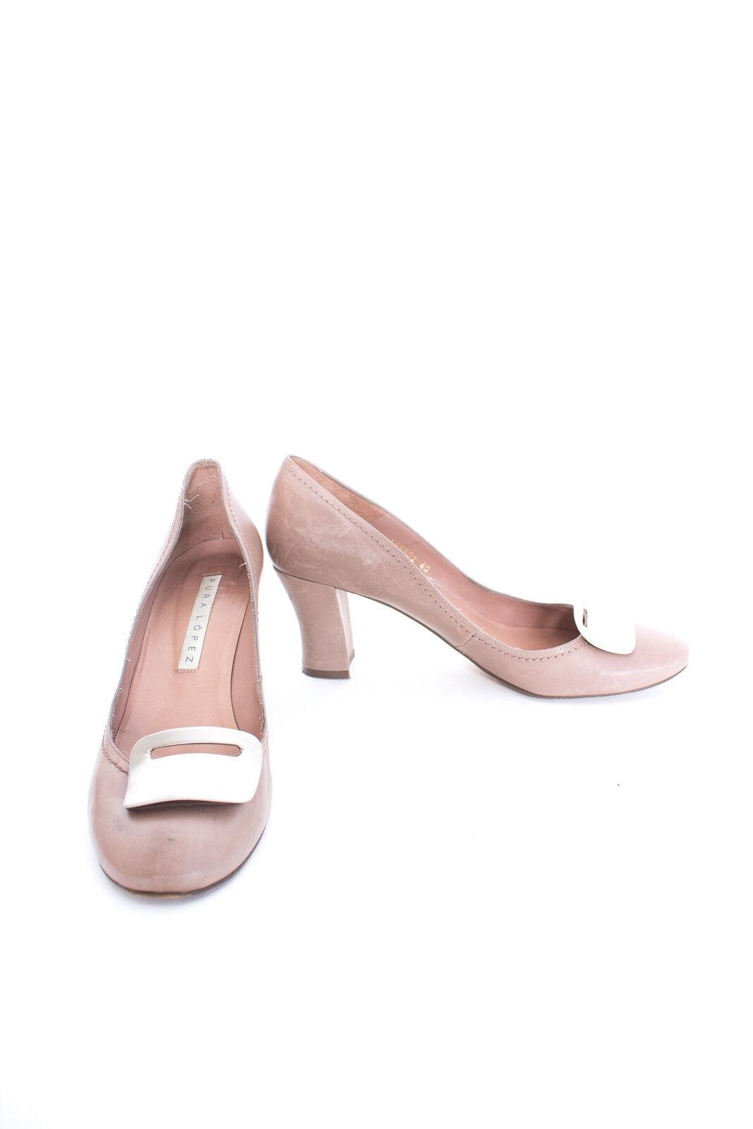 PURA LOPEZ Pumps Gr. EU 40 Damen Schuhe High Heels Beigerot Leder