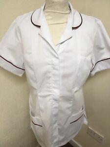 Purple Trim Ladies Tunic Nurse Vets Unicorp Purple Care  Uniforms