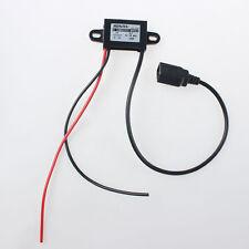 Convertidor Conversor 12V a 5V 24V a 5V  Cable USB DC-DC Negro Adaptador