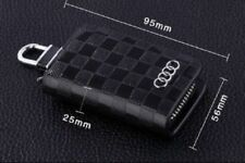 Audi Leather Car Key Keychain Fob Case Holder Zipper Cover S-line Black