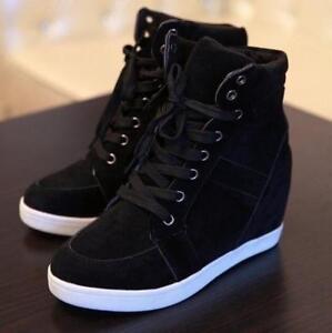 Women's Fashion Wedge Sneakers Hidding