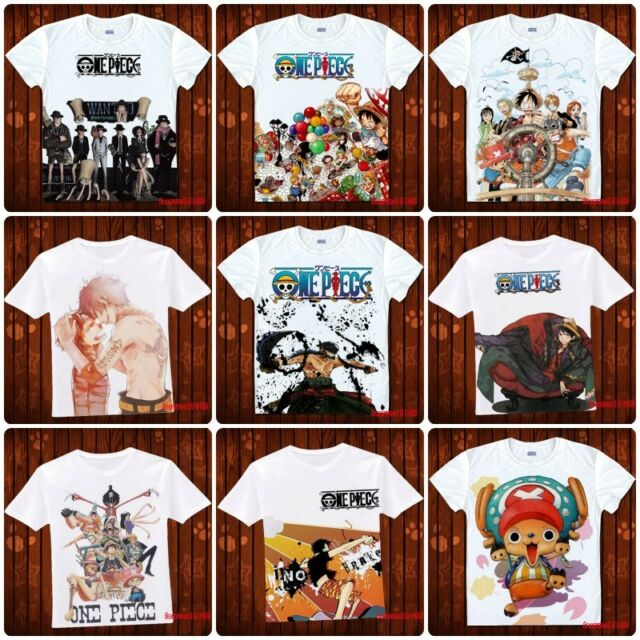 Anime One Piece Luffy/Ace/Chopper Casual Costume White T-shirt S,M,L,XL#DU208