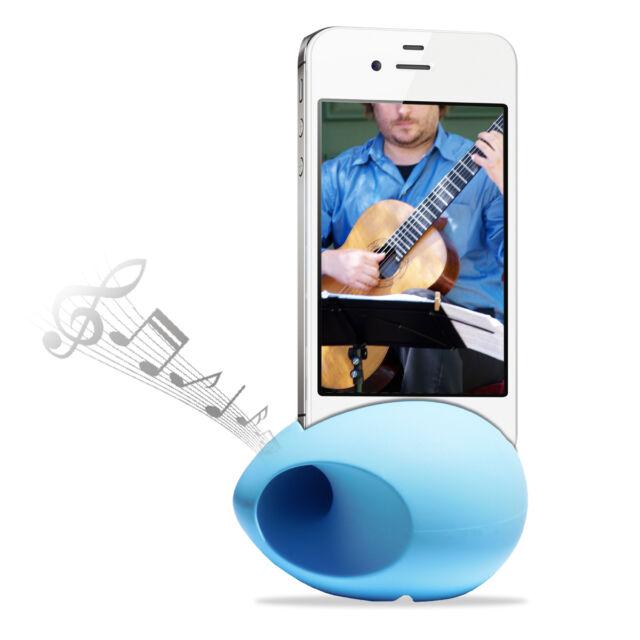 Cirago Blue iPhone NuSound-Pod Sound Speaker Amplifier for iPhone 5s 5c 5 4s 4