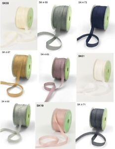 sold by the roll or the metre NEW COLOURS May Arts 100/% Pure Silk 7mm Ribbon