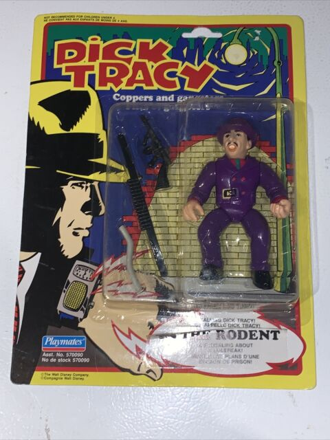 Vintage Dick Tracy The Rodent Action Figure Moc Sealed New Playmates Canadian