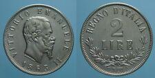 REGNO D'ITALIA VITT. EMAN. II 2 LIRE 1863 NAPOLI-VALORE qSPL