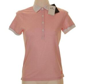 Details about New Women's Aquascutum Stretch Golf Polo Shirt Moisture Shield Small UK 10 Pink