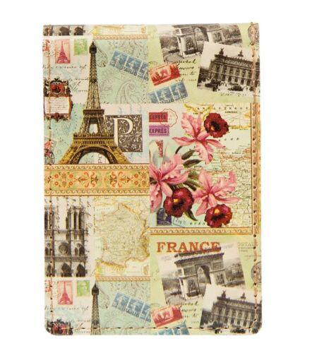 Notizbuch Paris Eiffelturm Deko Vintage Buch Schreibuch Tagebuch Shabby Chic