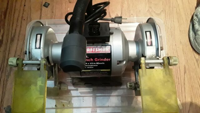 Awesome Craftsman 6 Bench Grinder 1 3 Hp 3450 Rpm Creativecarmelina Interior Chair Design Creativecarmelinacom