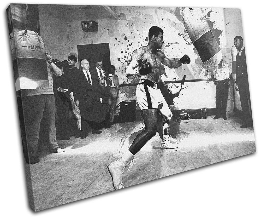 Muhammad Ali Boxing Grunge Sports SINGLE TOILE murale ART Photo Print