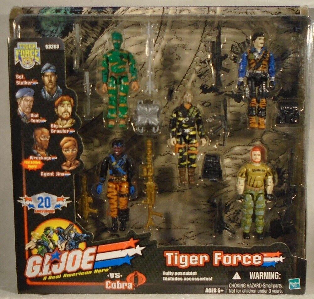 Gi Joe Tru Tiger Force Jinx escombros tono de marcado Stalker Big pendenciero variable de pelo rojo