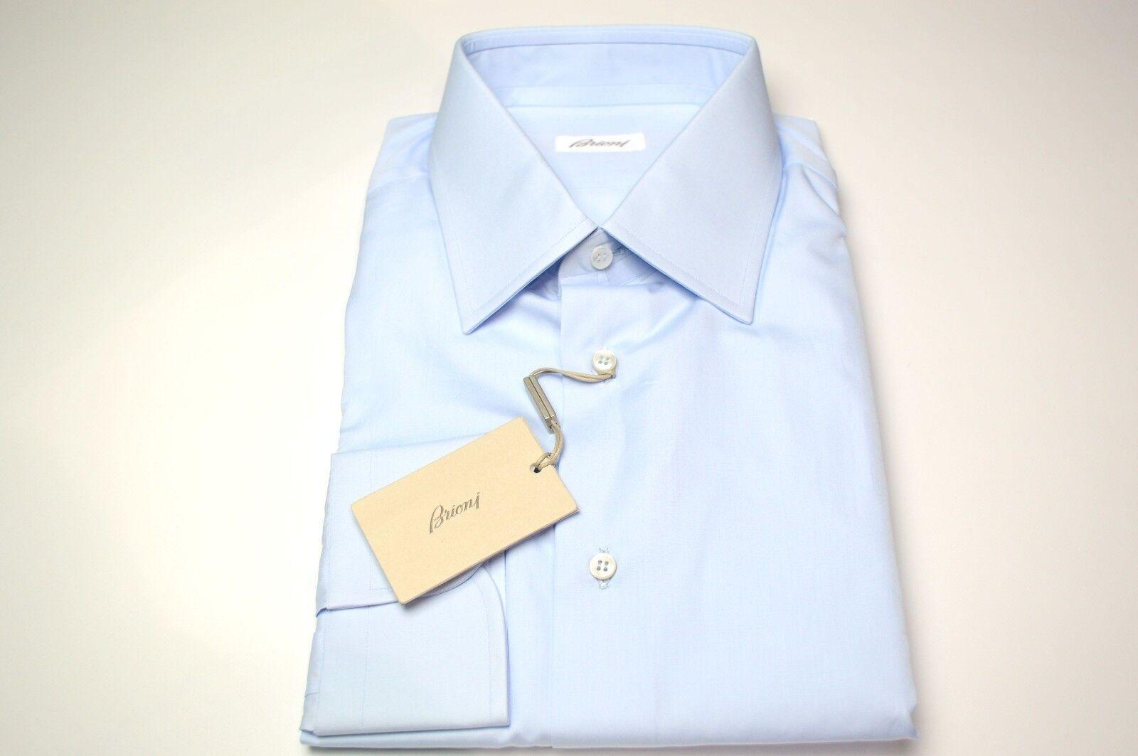 NEW  BRIONI Dress  SHIRT 100% Cotton Size 16 Us 41 Eu  (ARA110)
