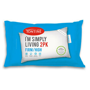 Tontine Simply Living 2 Pack Firm High Pillow Machine