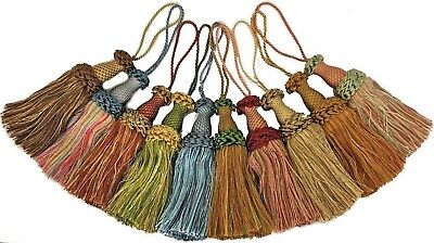 CUSHIONS ART 2290 LARGE KEY TASSELS ASSORTED COLOURS X4 BLINDS CURTAINS