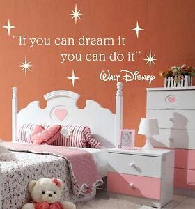 If-you-can-dream-Wall-Stickers-Walt-Disney-QUOTE-VINYL-Stikers-Children-Bedroom