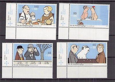 Brd Ab 1948 Satz Bogenecke Unten Links@postfrisch ** Mnh Deutschland Ab 1945 Brd 2011 Loriot Mi 2836-2839@kompl