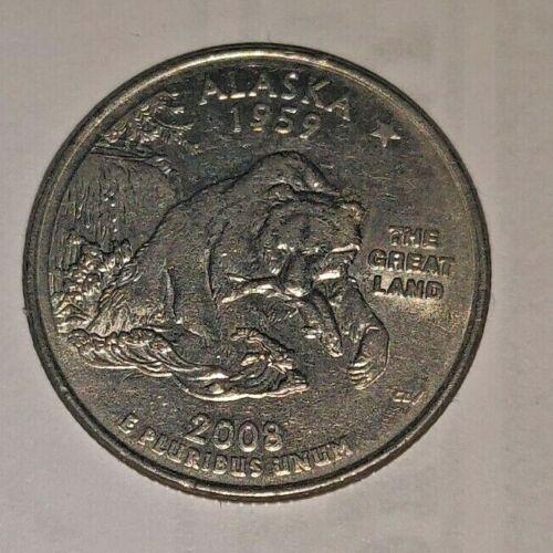 ATB COINS 2008 P STATE QUARTER-BU FREE SHIPPING!! ALASKA