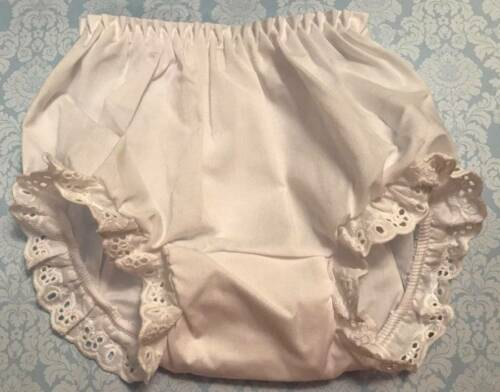 White Eyelet Trimmed Bloomers Diaper Cover Baby /& Toddler Sizes up to 4T