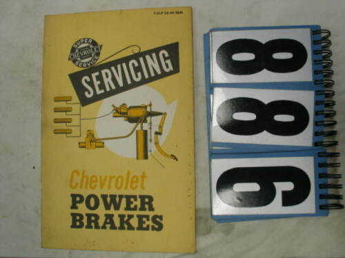 """Servicing Chevrolet Power Brakes"" Manual, Original TOP 5440 S&M 886"