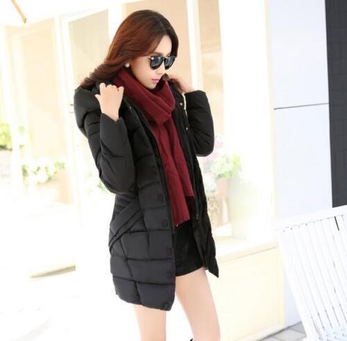 Parka Fit Winter Ladies polstret Women's Jacket Long Fashion Bomuld Coats Slim wBwazxSqX