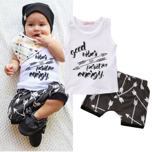 Newborn Baby Boy Girl Bodysuit Romper Jumpsuit Outfits Summer Clothes