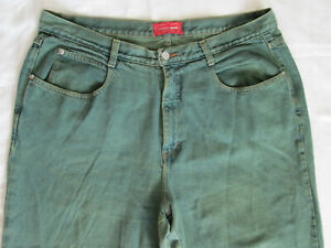 Venezia-Green-Blue-Denim-Jeans-Size-20-Made-in-USA-100-Cotton-PREOWNED-USED