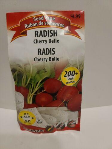 Mckenzie Seeds Radishes Cherry Bella  Seed Tape