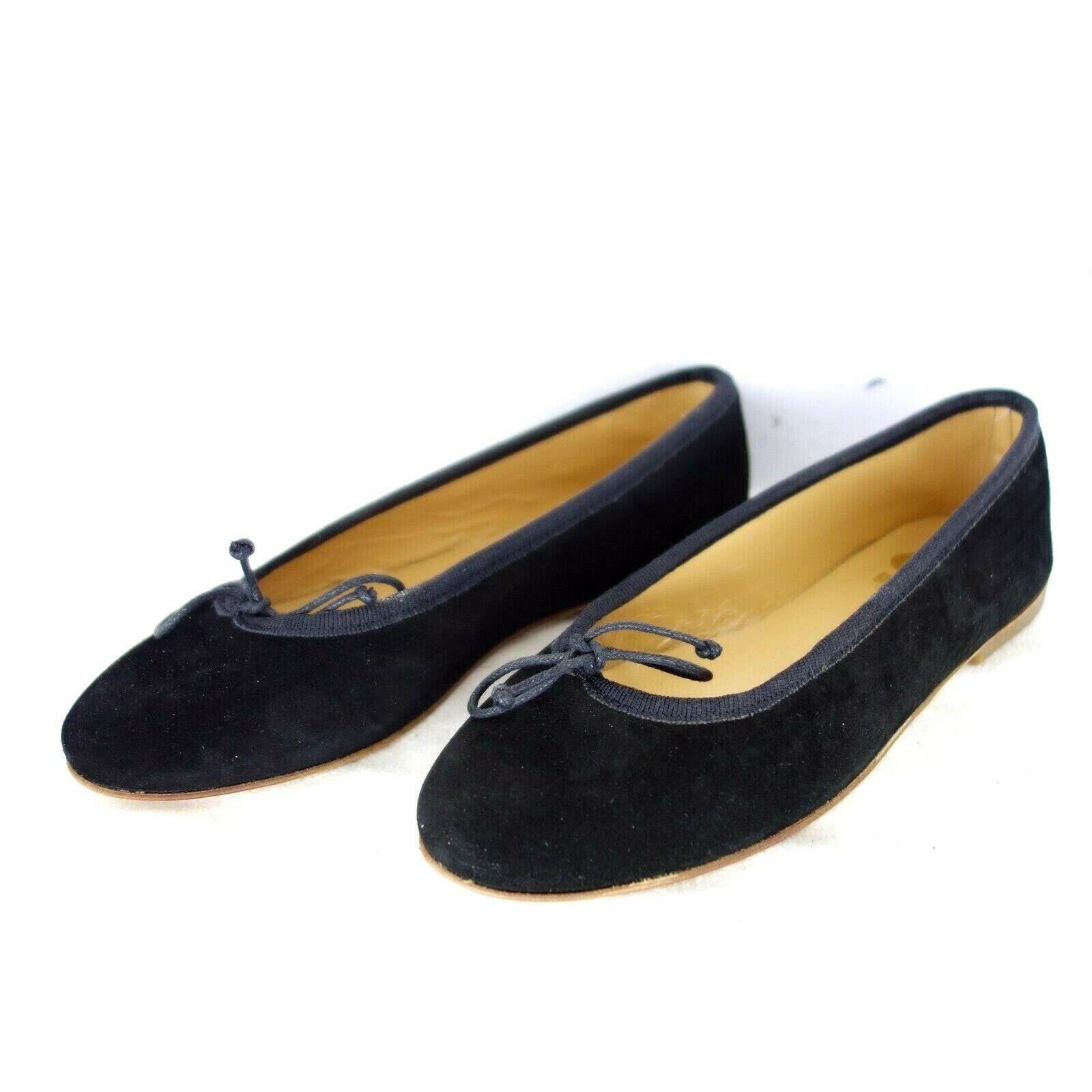 Gallucci Femme chaussures Ballerines Gr 36 noir Cuir Daim Rond Np 139 Nouveau