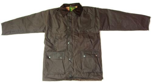Mens Padded Wax Jacket British Waxed Coat 100/% Waxed Cotton Warm Country S-5XL