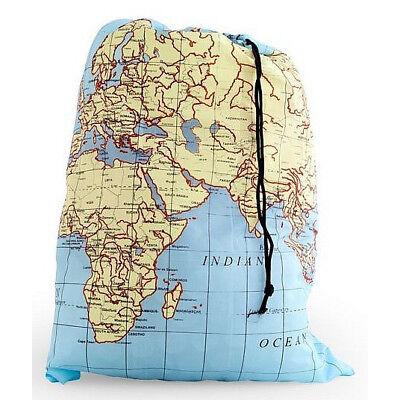 Kikkerland Wäschesack Wäsche beutel world map Weltkarte Reise Urlaub laundry bag