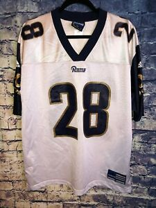 Adidas Marshall Faulk St. Louis Rams Jersey Size Medium Los Angeles NFL vtg🔥🏈