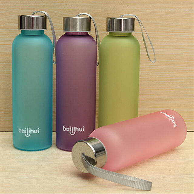 Portable Unbreakable Leak-proof Sport Travel Water Bottle Cycling Camping 600ML