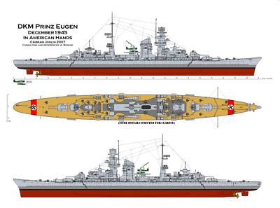 Germany  Battleship KMS Bismarck WW II  Poster printing 36x65 PP Gothic shipyard