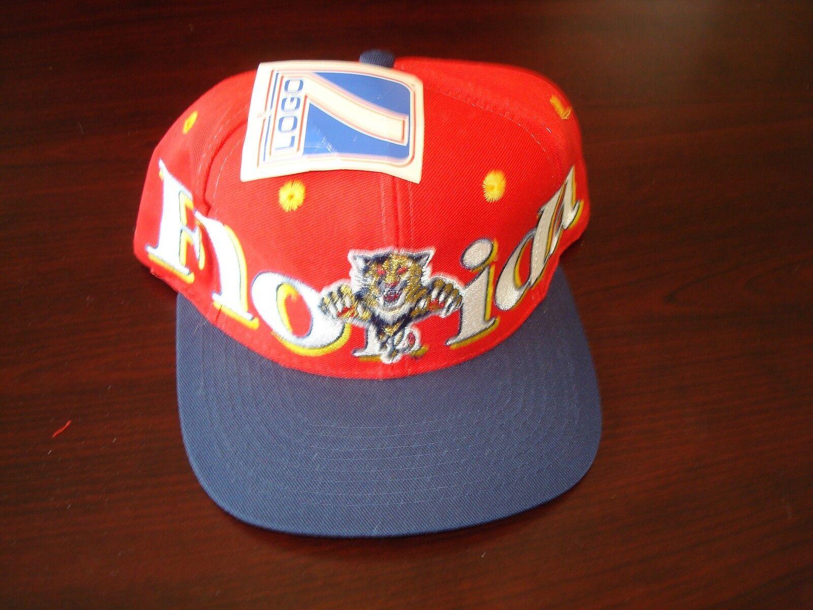 FLORIDA PANTHERS LOGO7   BIG LOGO SCRIPT NEW VINTAGE SNAPBACK 90'S HAT CAP  SNAPBACK VINTAGE 5d5268