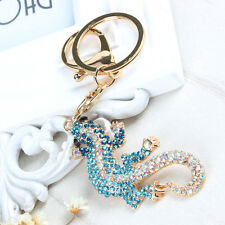 New Wall Gecko Climb Lovely Pendent Charm Crystal Purse Bag Keyring Chain Gift 00004000