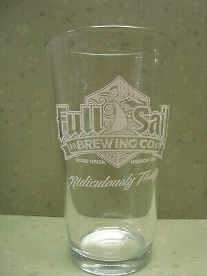 Full Sail Independent Brewing Co Hood River Oregon Conical Pint Beer Glass