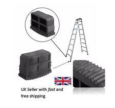 Pair of 61mm X 23mm Black Replacement Ladder Step Ladder Feet Rubber Grip Foot