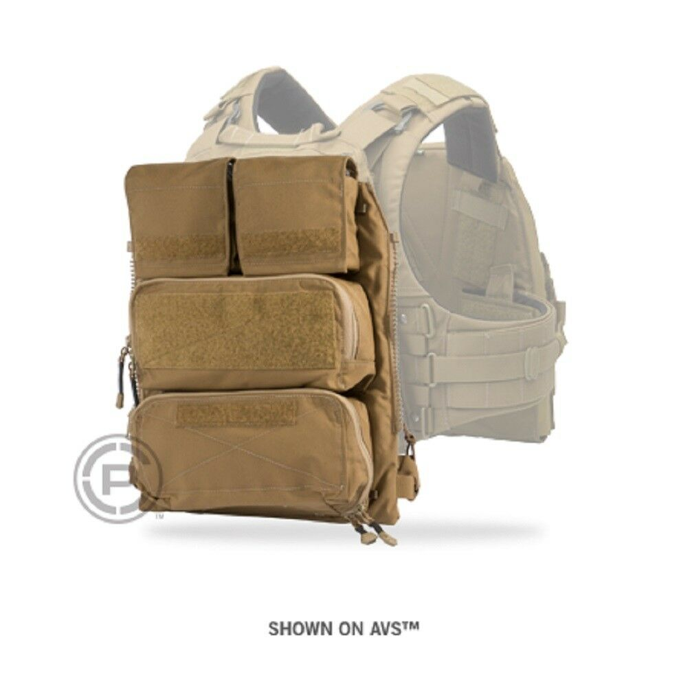 Crye Precision - Pouch Zip-On Panel 2.0  - Coyote Brown - Large   XL  fast shipping