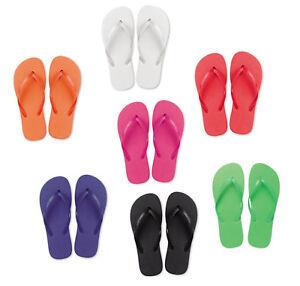 4fd5cb5804a58 10 X Ladies Flip Flops - Party Favour Shoes Wedding - Plain SPA ...