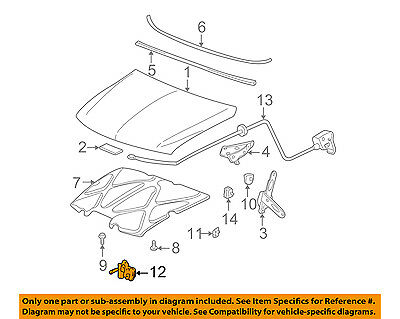 Genuine GM Parts 15756432 Hood Latch